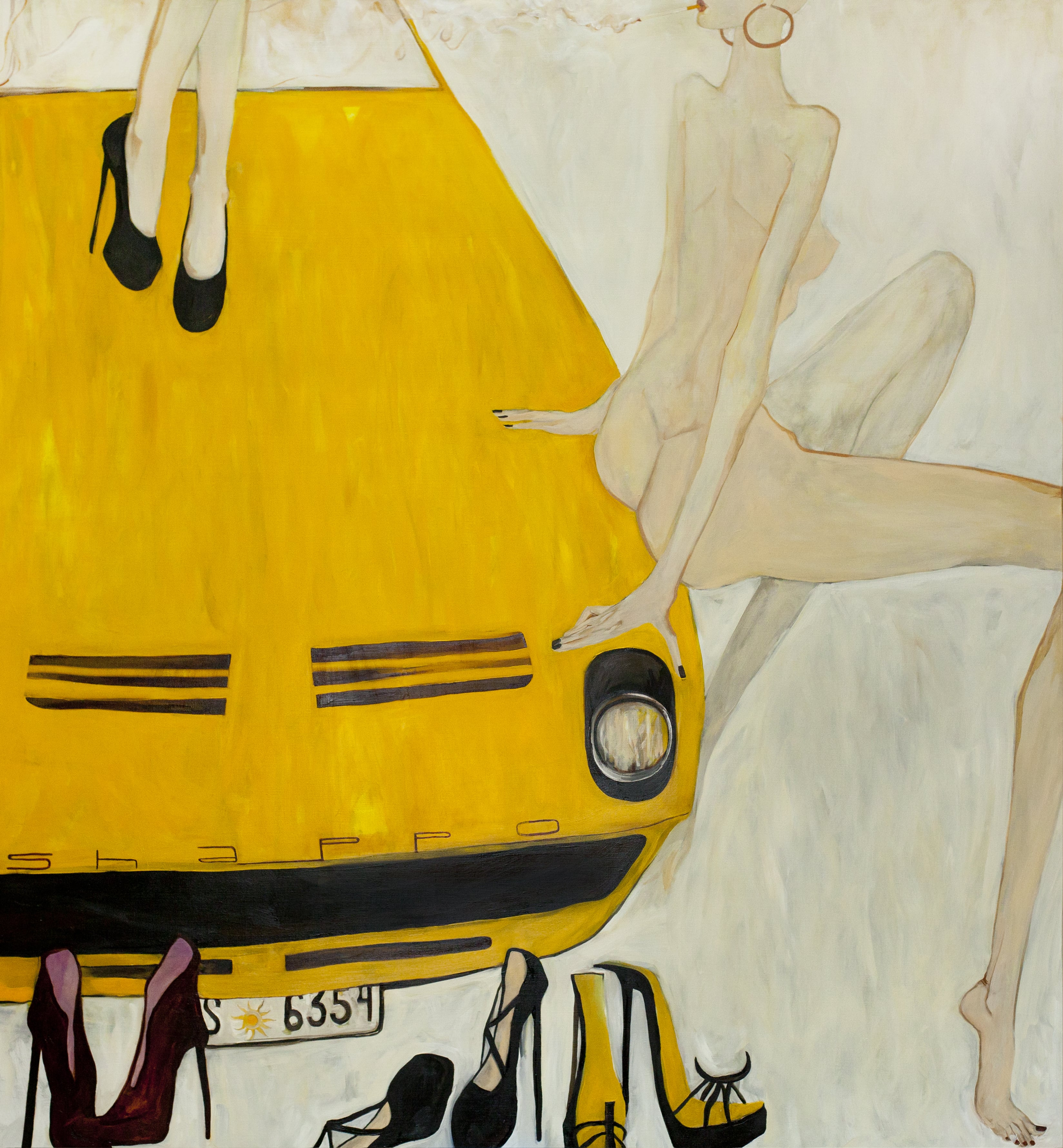 EVERYONE WENT SWIMMING! WHAT ABOUT YOU? canvas. oil. 180X200 cm.