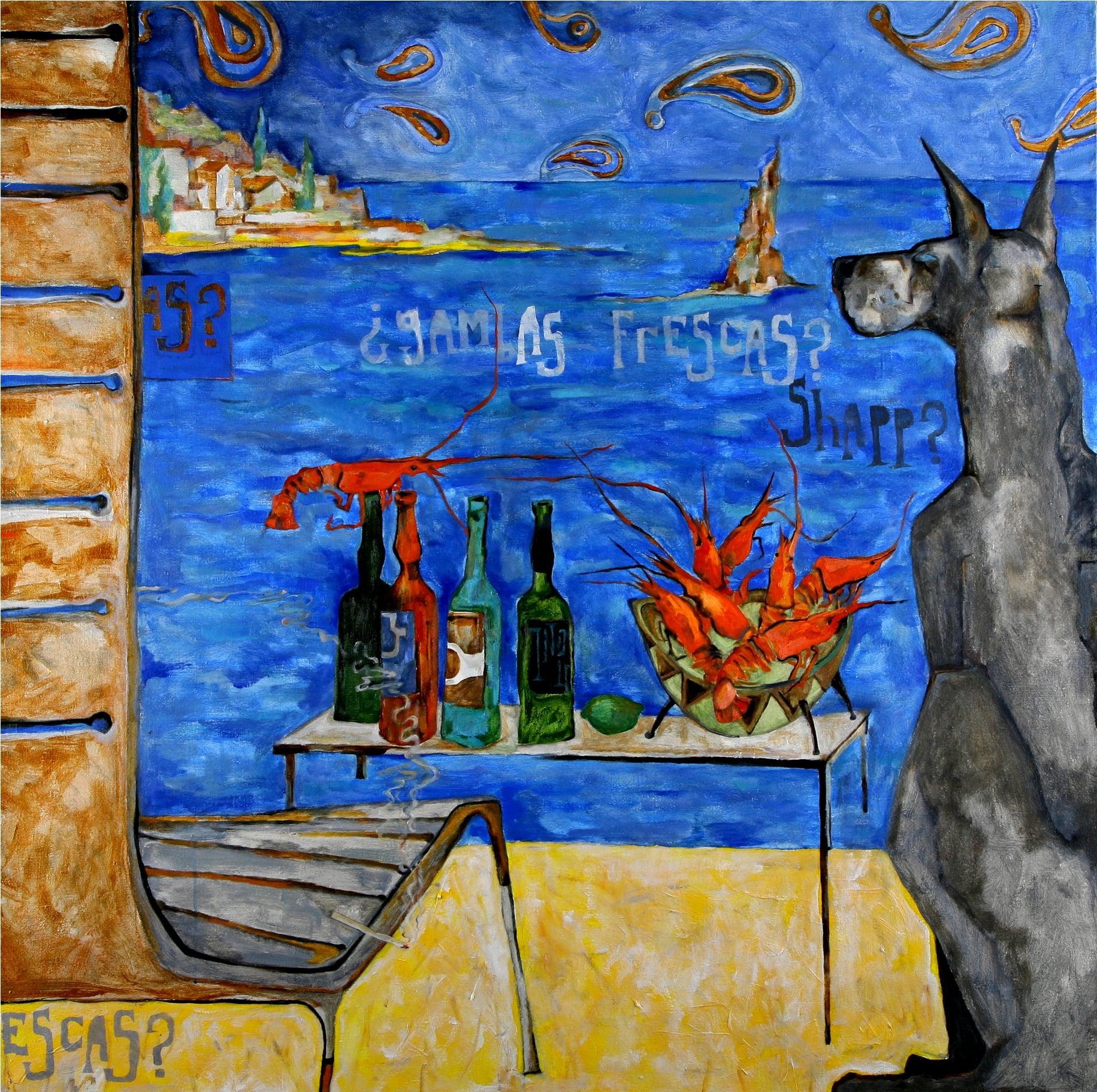 GOLD ACAPULCO. canvas. oil.  160Х160 cm.