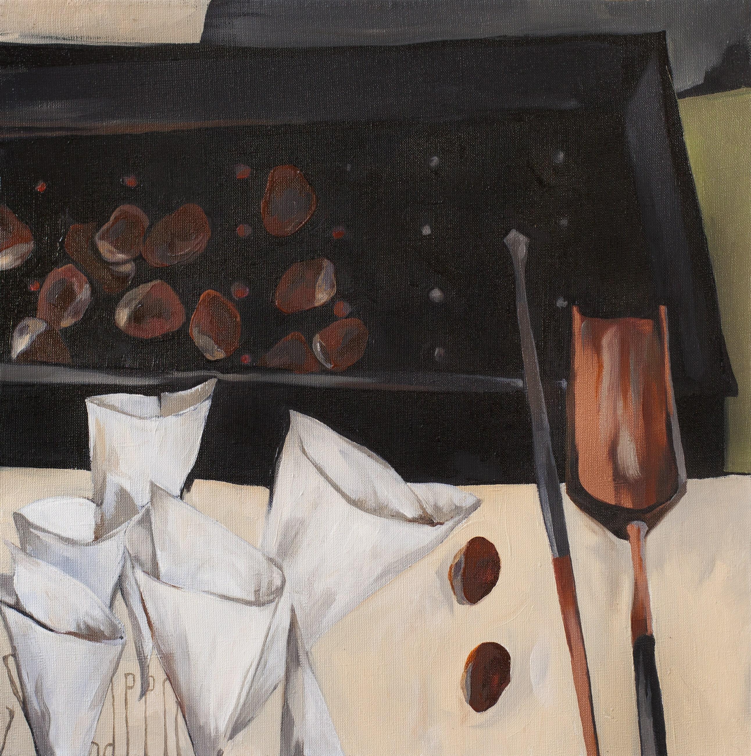CHRISTMAS ON AVENUE DE VILLIERS. canvas. oil. 50X50 cm.
