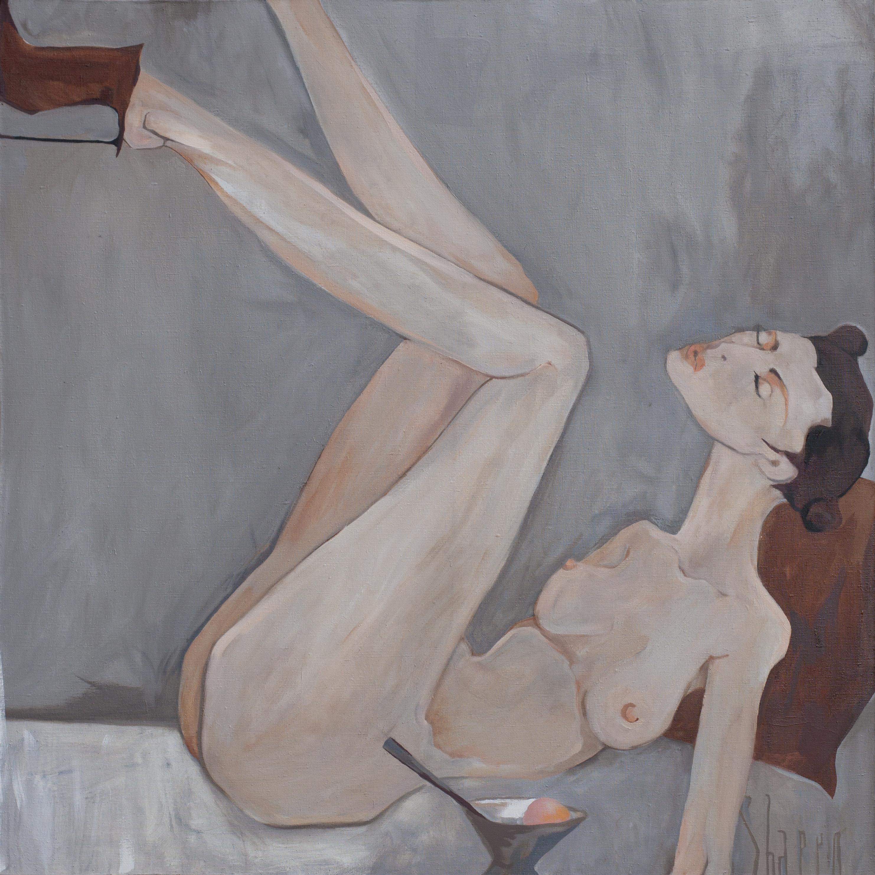 ICE CREAM. canvas. oil. 100X100 cm.