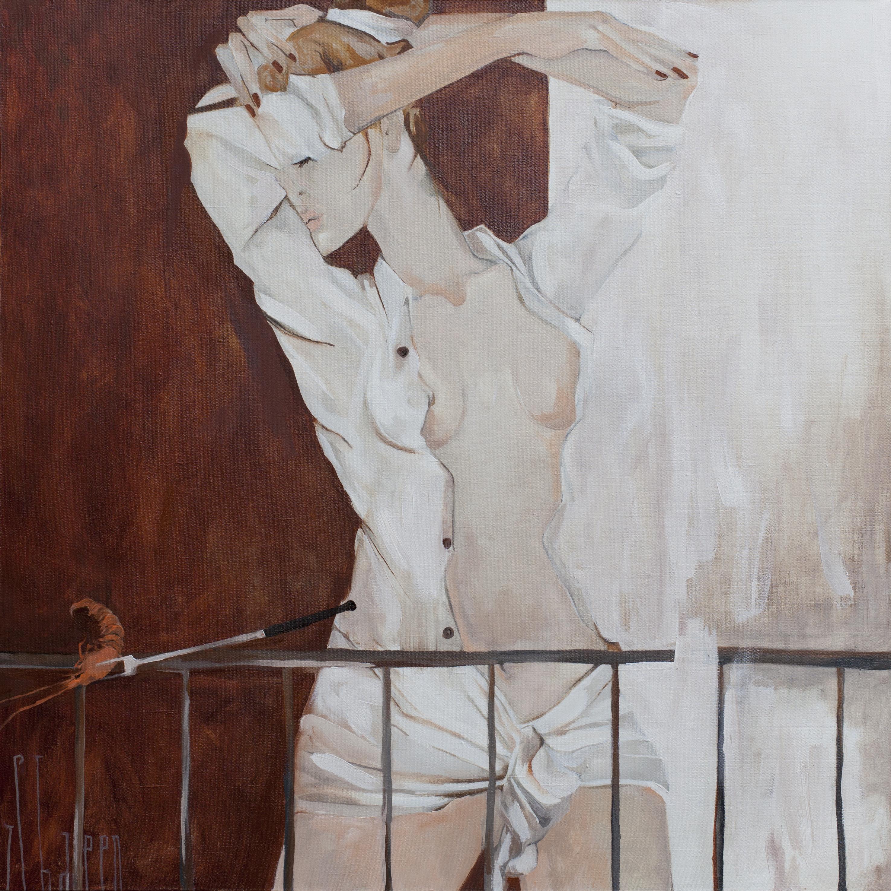 SHRIMP. canvas. oil. 100X100 cm.