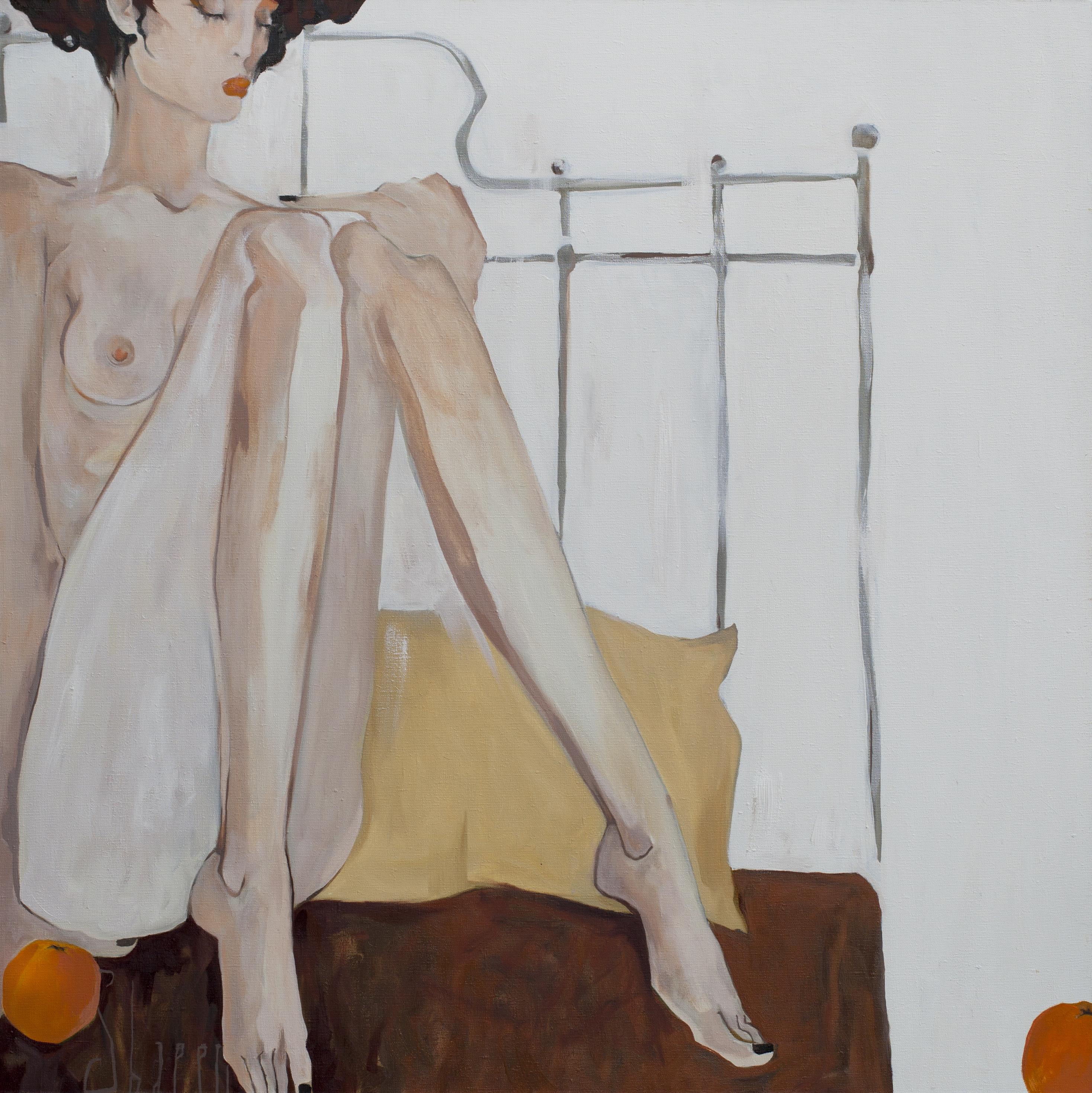 ORANGES. canvas. oil. 100X100 cm.